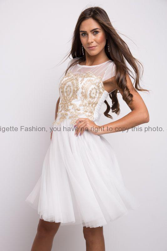 5ddcb99575f4 Plesové šaty krátké bílé