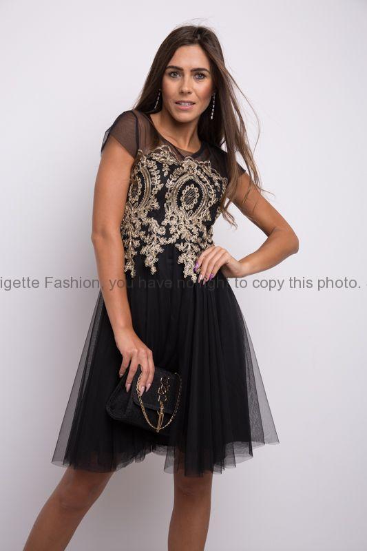 Plesové šaty krátké černé  4c9ea80fe4