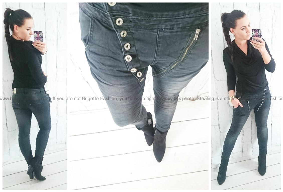 Delux baggy džíny elastické  f0b4dd62b0