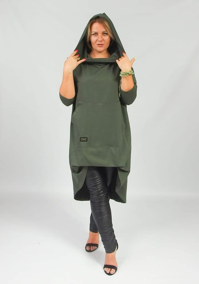 Plus size mikina Conny