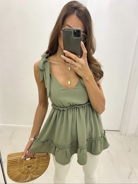 Top Louisa - khaki